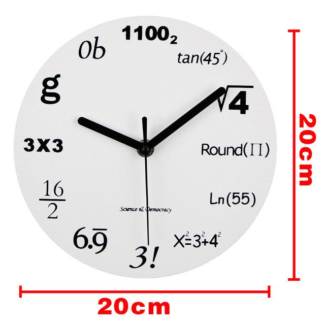 Modern Home Decor Acrylic Wall Clock Math Equations Wall Mounted Clock Quartz Needles Horloge Watch