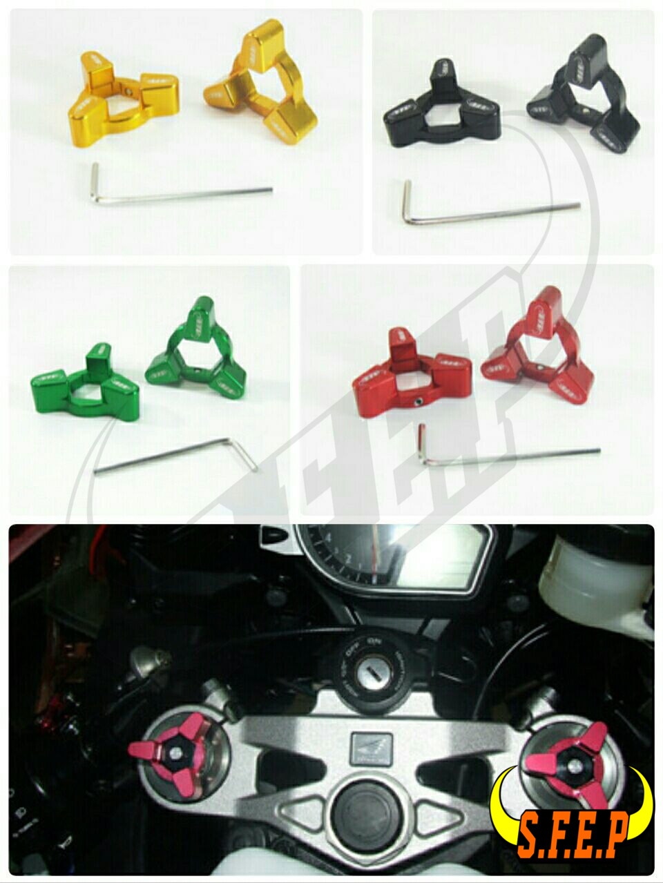 Motorcycle CNC Fork Preload Adjusters For Triumph Daytona 955i 97-06/ Speed Triple 97-04/ TT 600 00-03/ Speed Four 03-06