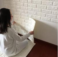 New 77cm 70cm White Brick Pattern Self Adhesive PVC Wallpaper Room Decor Stick Wall Paper Home