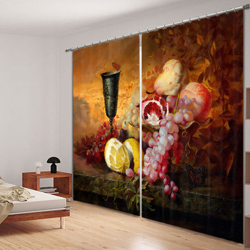 Blackout Fabric Painting in water colours 3D Window Curtains Drapes For Living room Bed room Hotel Decorative Home Wall Tapestry