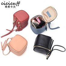 CICICUFF Ladies Genuine Leather Cosmetic Bag Fashion Case Makeup Women Clutch Mini Toiletry Pouch