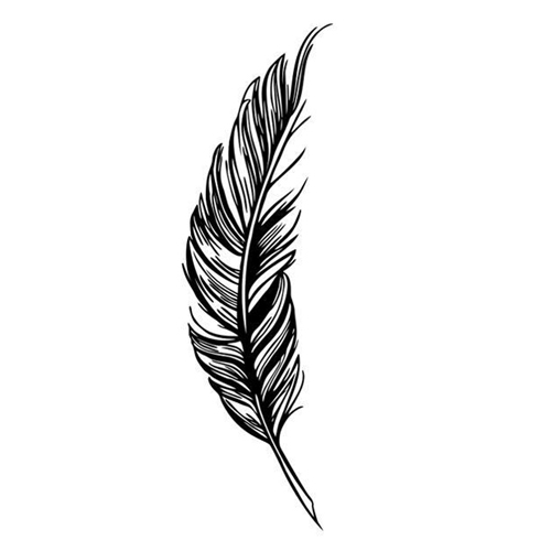 Tattoo Flash Wallpaper By Feathr: SDFC Right Flying Feather Wall Stickers Home Decor Home