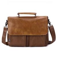 New Brand Men Leather Business Bags Teenager Crossbody Bag Vintage Top Layer Leather Shoulder Bag Men's Messenger Bag/ Handbag