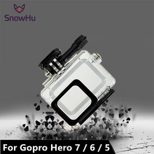 SnowHu for Gopro Hero 7 6 5 Accessories Waterproof Protection Housing Case Diving 45M Protective For Gopro Hero 7 6 5 CameraLD08 lanbeika for gopro hero 6 5 touchbackdoor diving waterproof housing case 45m for gopro hero 6 5 go pro5 gopro6 gopro hero6