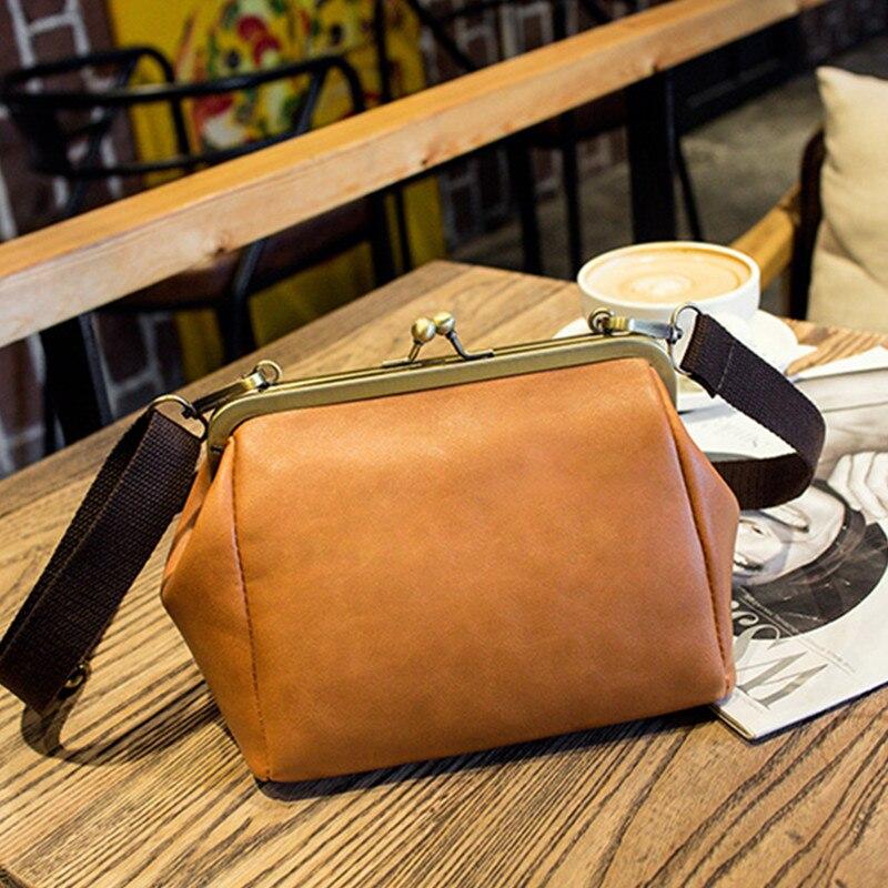Trenadorab Vintage Women Bag Leather Handbags Small Casual Cross Body Bag Party Retro Women Shoulder Bags
