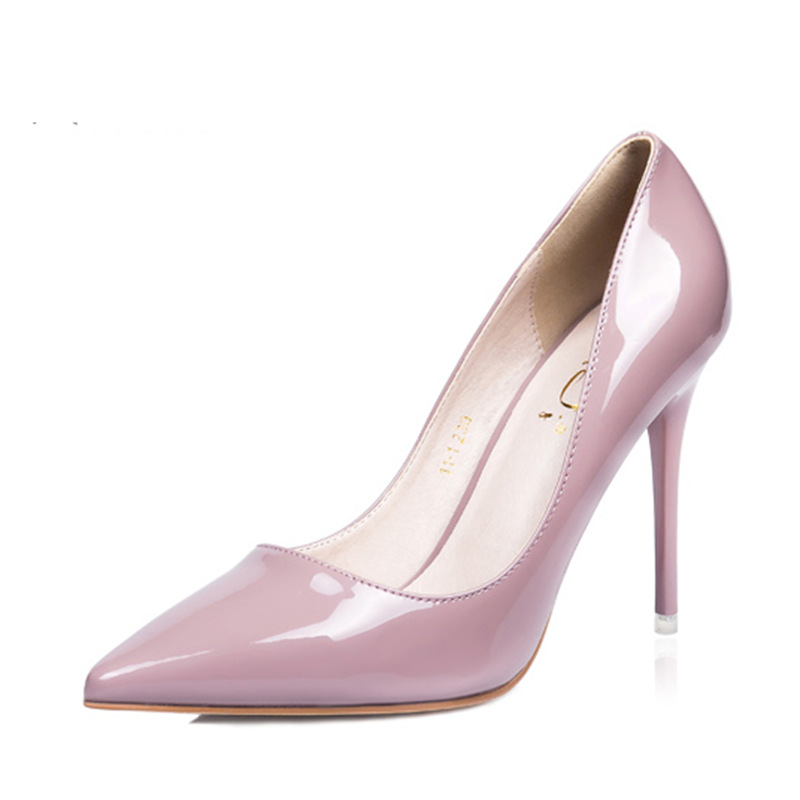0be2bafa4b8 Fashion Women Pointed Toe Pumps Patent Leather Dress High Heels Pumps Thin  Heel Classic White Black Sexy Prom Wedding Shoes