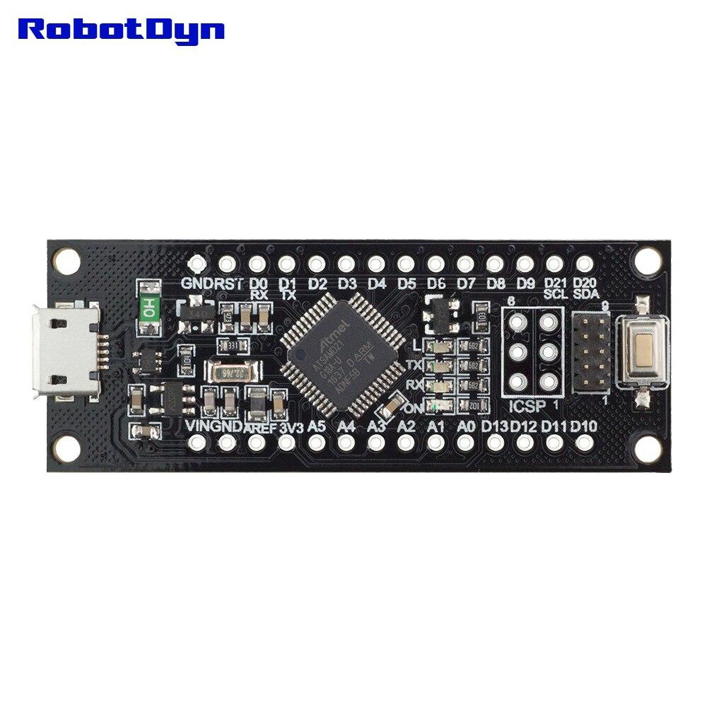 SAMD21 M0-Mini  32-bit ARM Cortex M0 core  Pins UnSoldered  Compatible with  Arduino Zero, Arduino M0  Form Mini