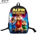 Bolsa de dibujos animados gismo alvin y las ardillas impresión mochilas niños bolsa niños mochilas niño niña solf diaria