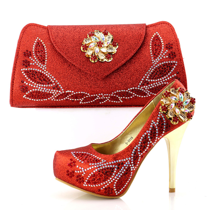 SB8178-4 red wedding high heel shoes and bag with many crystal shoes and bag set women pumps and clutches bag in red color 2018SB8178-4 red wedding high heel shoes and bag with many crystal shoes and bag set women pumps and clutches bag in red color 2018