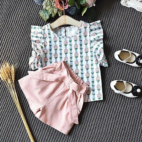 tops shorts 2 pcs set bebe criancas