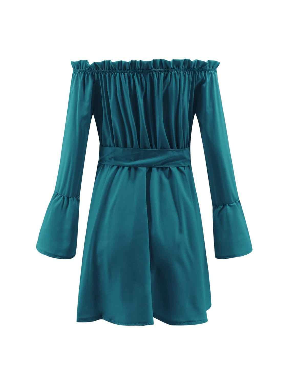 Элегантный Для женщин Мини платье весенне-осеннее платье с длинными рукавами Женская повязка лоскутное одеяло Повседневное Vestidos Для женщин сексуальные вечерние платья