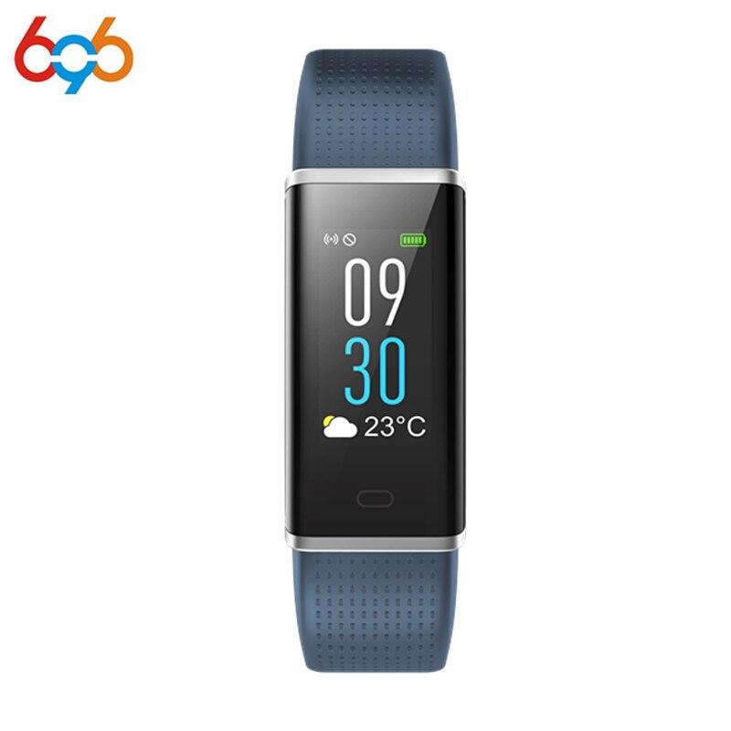 696 ID130C Blutdruck Uhr Blut Sauerstoff Herz Rate Monitor Smart Armband Schrittzähler IP67 Wasserdicht Armband