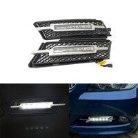 Высокая яркость 10 Вт светодиодный DRL дневного света 12 В вождения противотуманных фар для BMW E90 E91 2005 2008 с сигнал поворота