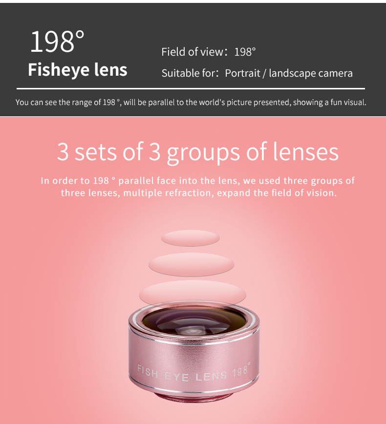 Cell Phone Camera Lens 4 in 1 Universal Professional Kit Fisheye Macro + Wide-angle + CPL Polarized Lens For iPhone Samsung 13