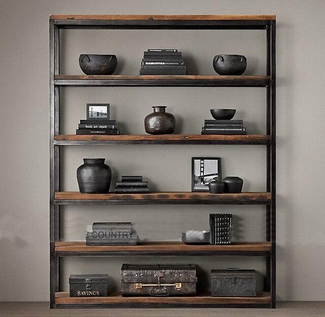 fran ais loft biblioth que am ricain r tro clins de bois. Black Bedroom Furniture Sets. Home Design Ideas