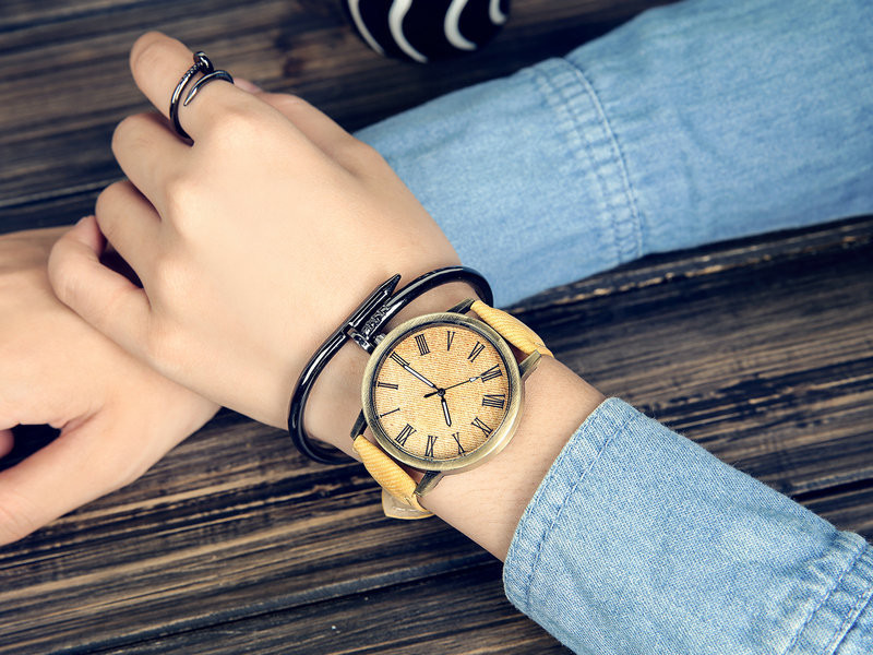 MEIBO Relojes Women Quartz Watches Denim Design Leather Strap Male Casual Wristwatch Relogio Masculino Ladies Watch female watch 6