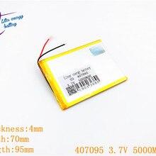 3,7 в 5000 мАч(полимерный литий-ионный аккумулятор) литий-ионный аккумулятор для планшетных ПК 7 дюймов MP3 MP4 [407095] Замена [357095] Высокая емкость
