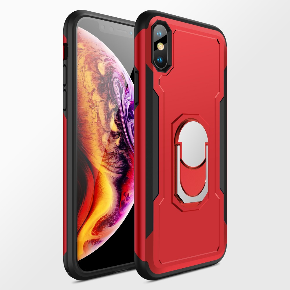 New Luxury Cover Cases For Funda Apple Iphone 6 6s 7 8 Plus For Iphone X Xs Hard Pc Case Tpu Frame 360 Full Cover Cases Bracket Phone Case Covers Aliexpress