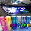 8 Colores de Coches Cambio de Color de Luz Tint Engomada de la Película 30*100 CM Brillante Camaleón Auto Car Luz Trasera de la Linterna Película de vinilo Adhesivo