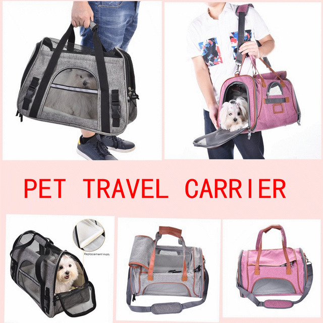 Waterproof Dog Carriages Cat Carrier Portable Breathable Backpack Roller Car Travel Bag Carry
