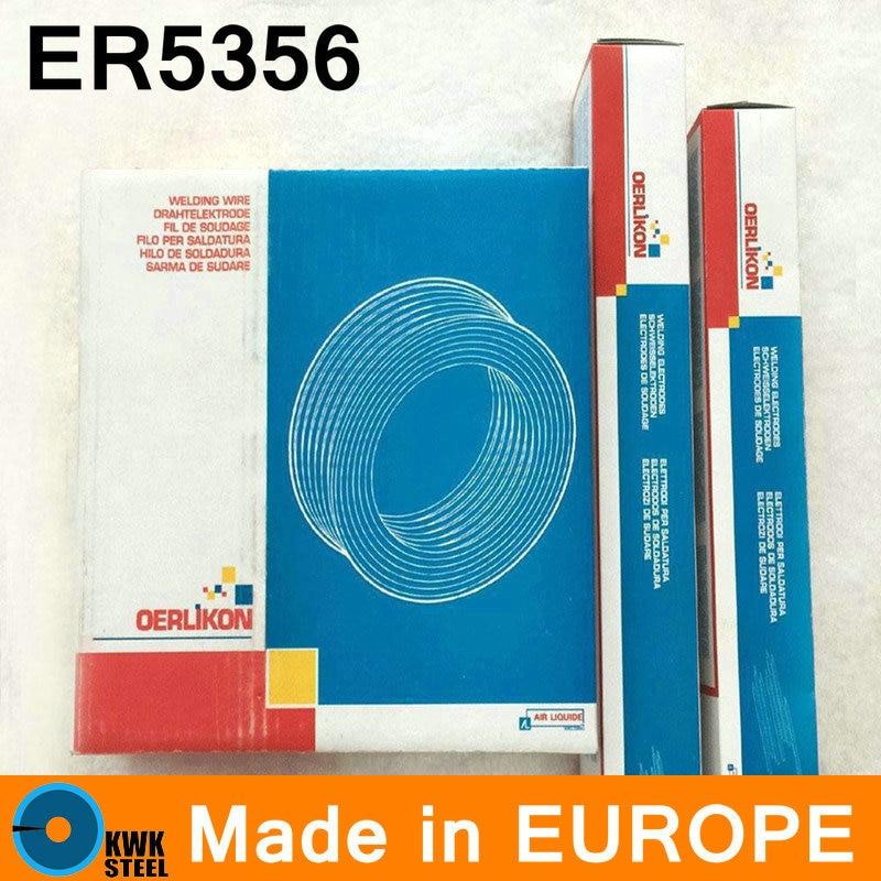 ER5356 OERLIKON Made in Switzerland Aluminum Welding Wire Premium Quality Welding Wire 0.9-4mm Free Shipping professional welding wire feeder 24v wire feed assembly 0 8 1 0mm 03 04 detault wire feeder mig mag welding machine ssj 18