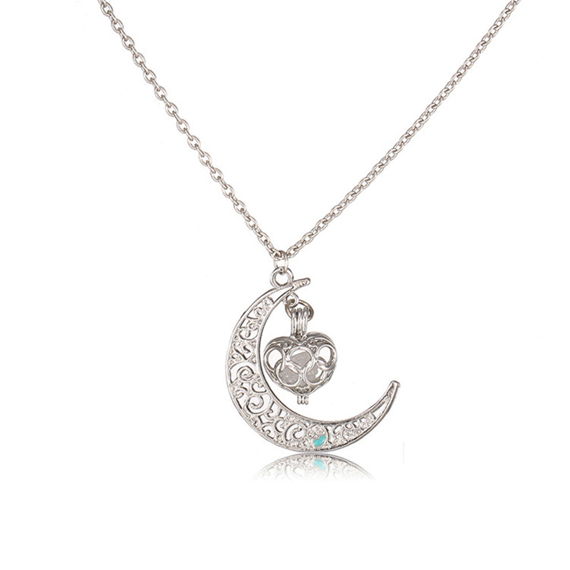 2017 New Design Moon Lights 4 Colors Necklaces Love Pendant Female For Women Gifts High Quality Necklaces