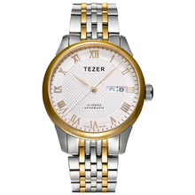 Free Shipping TEZER Brand Men Auto Mechanical Calendar 50 Meter Waterproof Day Week Michanical Hand Wind