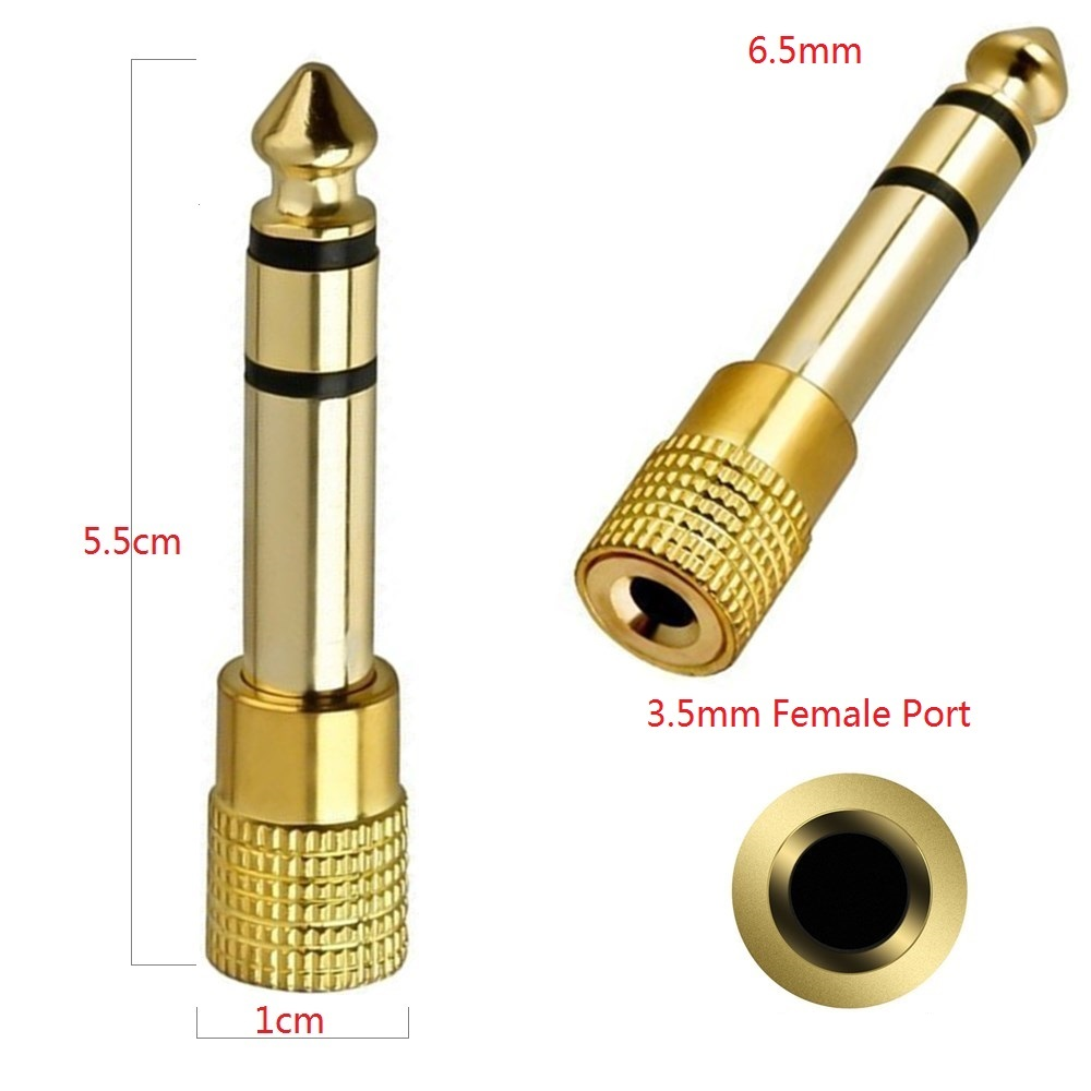 Jack Converter 3 5mm 1 8 quot Female to 6 5mm 1 4 quot Male Connector Audio Stereo Adapter for Headphone Amplifier Guitar Microphone