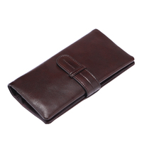 Wallet   Men's Bag Oil Wax Genuine Leather   Wallet   Card Holder Phone Coins Packet Money Purse For Men High Quality