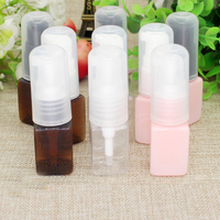 10/50/100pcs 10ml DIY plastic PET Square Lotion Emulsion Press Pump Head Bottle Travel Sample Sack Trial Sub bottling container