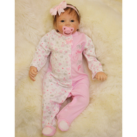 Adorable 21inch Otarddolls Reborn Doll Full Vinyl Newborn Infant Baby Girl Doll Mold With Magnetic Pacifier and Milk Bottle