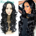 Black Long Curly hair High Quality Fascinating Women Long Curly Wig with Free Wig Cap Cosplay Wig Long Hair Spiral Costume Wigs