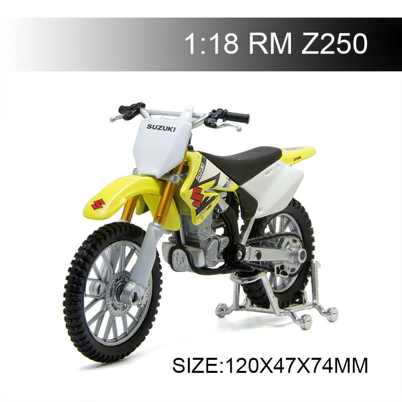 Maisto 1:18 Motorcycle Models SUZUKI RMZ250 RM-Z250 Diecast Plastic Moto Miniature Race Toy For Gift Collection