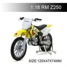 Maisto 1:18 Motosiklet Modelleri SUZUKI RMZ250 RM Z250 Diecast Plastik Moto Minyatür Yarış Oyuncak Hediye Koleksiyonu Için