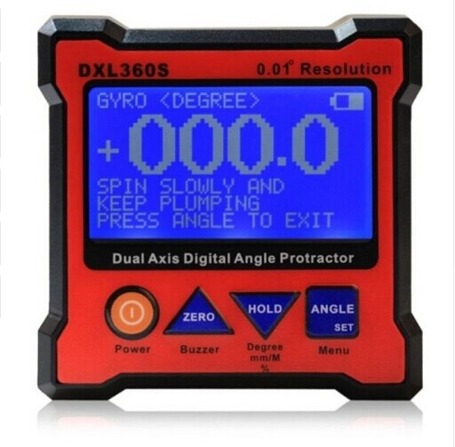 XEAST High-precision DXL360S Dual Axis Digital Angle Protractor Dual-axis Digital Display Level Gauge with 5 Side Magnetic Base