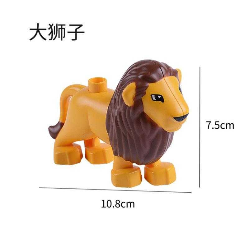 Image 5 - 50Pcs/Lot Animal Series Building Blocks Sets Large particles Animal dinosaur Bricks toys Compatible Legoinglys Duploe Blocks-in Blocks from Toys & Hobbies