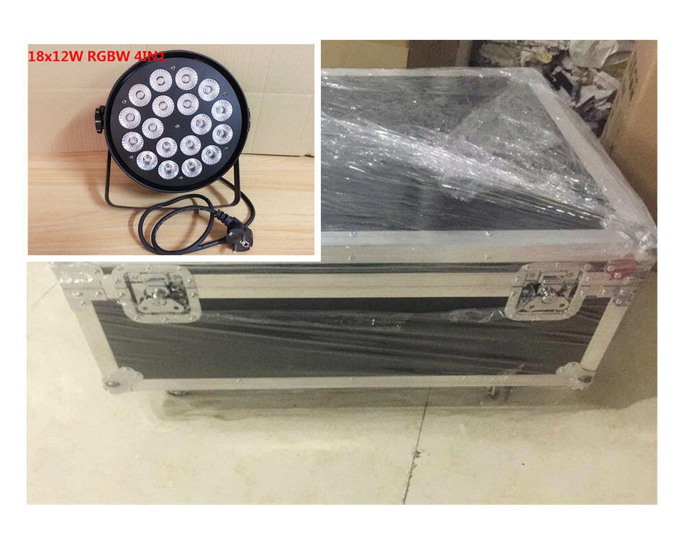 8pcs18x12W + Flight case luce par del led RGBW 4in1 Led Par Luce DMX Stage Lights бюстгальтер luce del sole luce del sole lu015ewabkf5