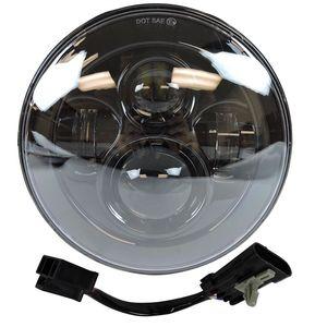 """Image 4 - פנס עבור אוניברסלי אופנוע חלקי 7 """"LED מנוע פנס 4.5"""" 4 1/2 אינץ עובר אור להארלי סיור softail קלאסי"""