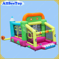 Inflatable Jumping Castle Toys for Kids,Family Use Bounce House with Ball Pool,Bouncy Castle with Air Blower
