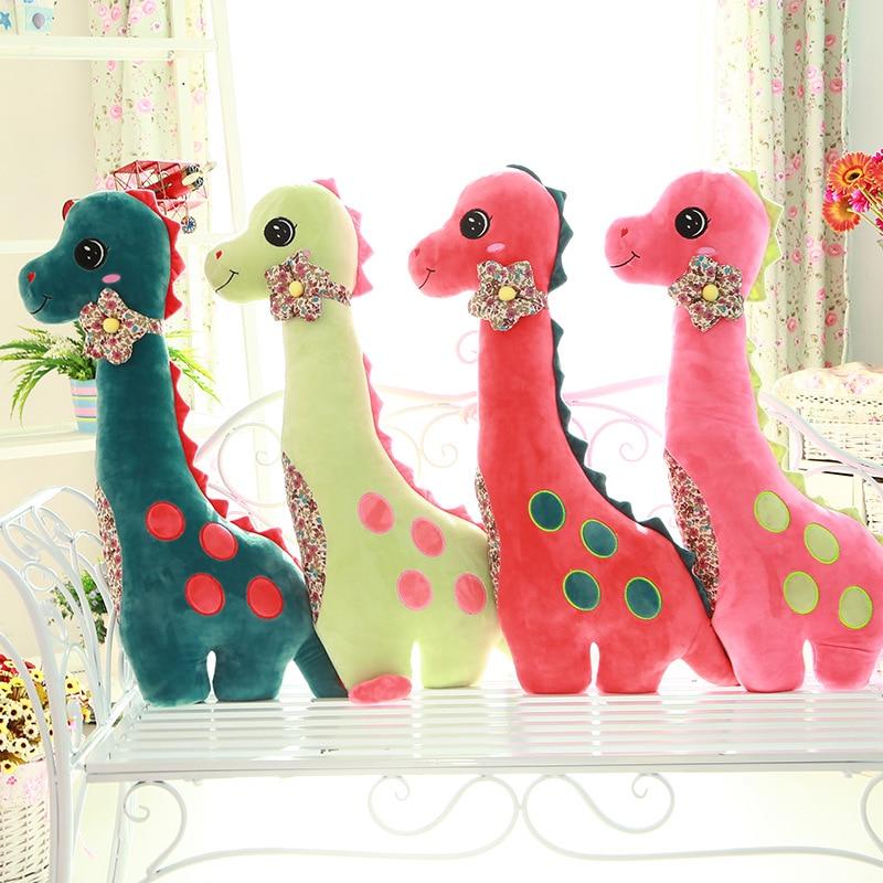 Hot Sale Cute Big Size Cartoon Dinosaur Plush Toy Lovely Stuffed Dinosaur Doll Kids Toy Best Gift For Children Good Quality 80cm цены