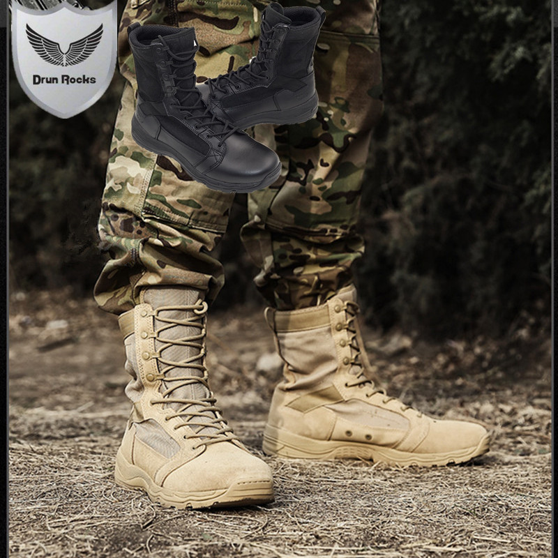High Quality Timber Land Shoes Military Boots Men Botas Askeri Bot Bota Masculina Army Combat Coturnos