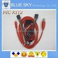 O Envio gratuito de 2 conjunto PICKIT2 PIC Kit2 Simulator PICKit 2 Programmer Emluator Cor Vermelha w/cabo USB Dupond Fio