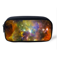 Vintage Make Up Cosmetic Bag Multicolor Galaxy Star Pen Pouch Multifunction School Children Boys Girls Pencil