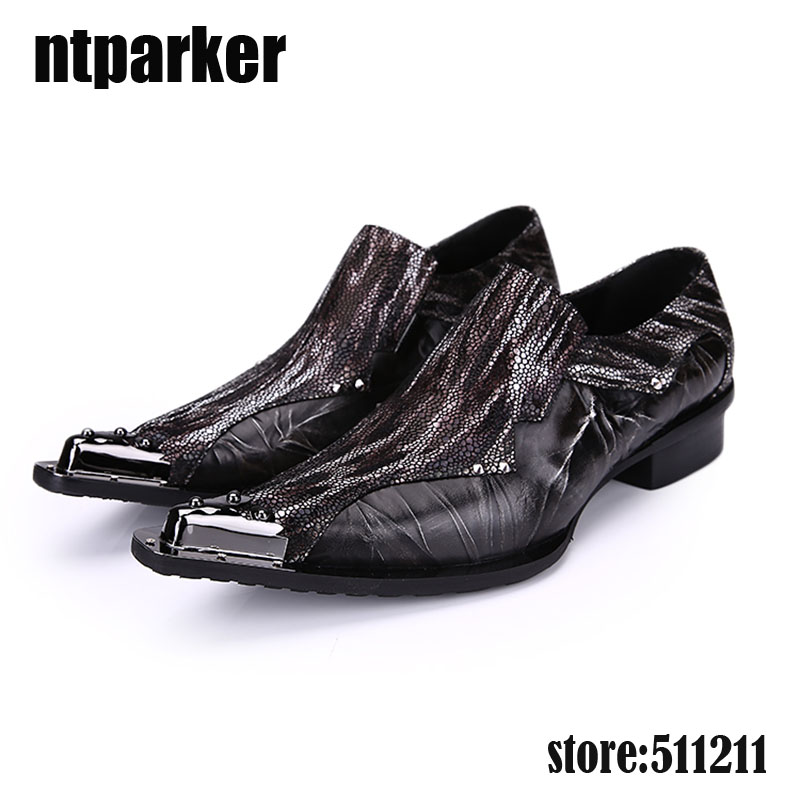 ntparker 2018 Fashion Leather Men Dress Shoes Luxury Men's Business Shoes Classic Gentleman Pointed Toe Wedding shoes Men, 45/46 ntparker wine red high heels men dress shoes leather fashion business leather shoes handmade wedding shoes for men 38 46 big