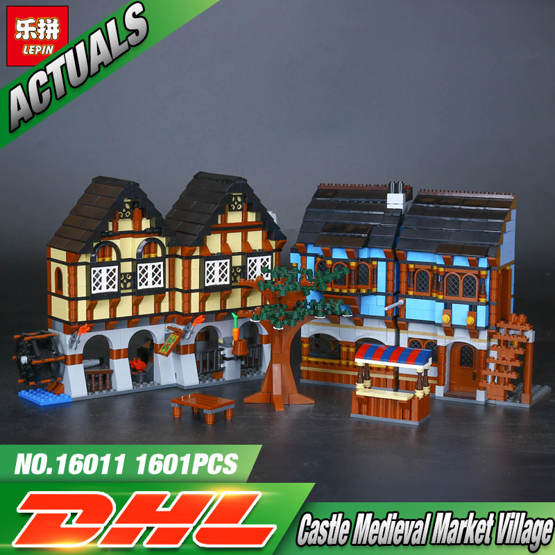 New Lepin 16011 1601Pcs Castle Series The Medieval Manor Castle Set Educational Building Blocks Bricks Model Toys Gift 10193 2017 new 10680 2324pcs pirate ship series the slient mary set children educational building blocks model bricks toys gift 71042