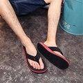 2017 Простой Мужчины Дизайнер Тапочки Флип-Флоп Летние Пляжные Тапочки Мужчин Обувь Повседневная Сандалии Мужчин Слайды