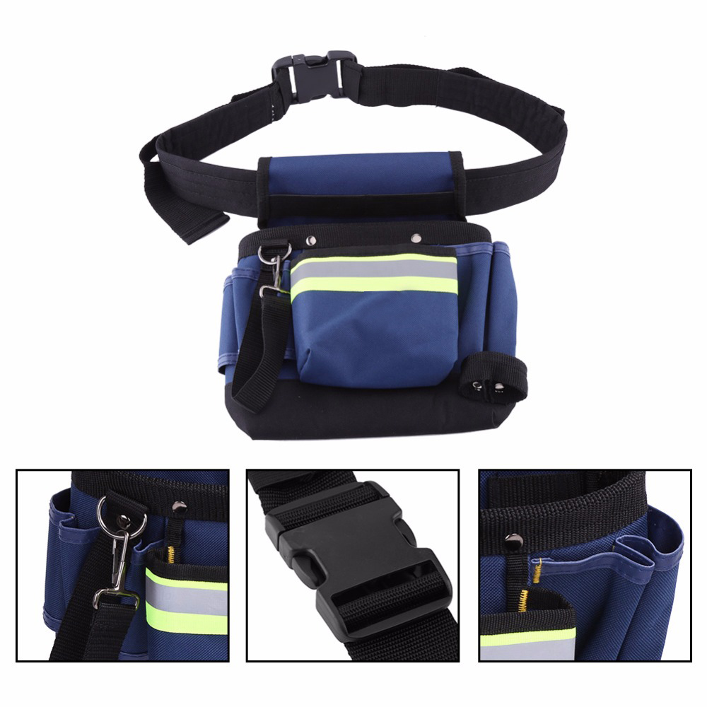 Tool Organizers Electrician Waist Bag Tool Holder Convenient Work Organizer Pouch Belt Men Multi-pockets Tool Bag For Hand Tools Screwdrivers