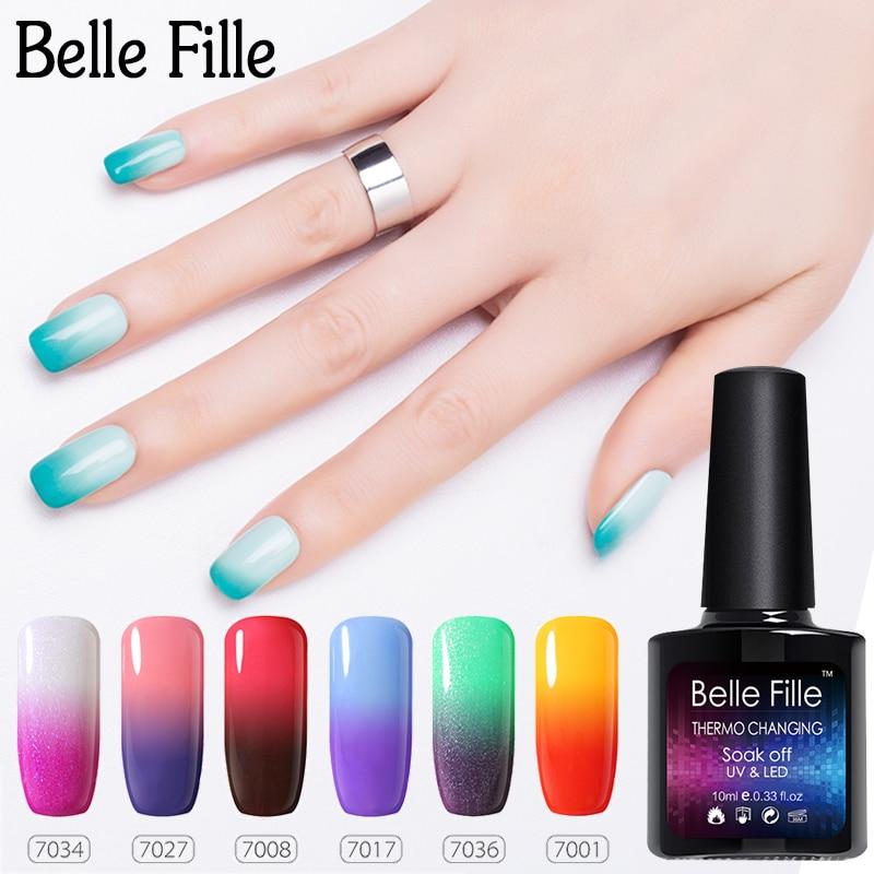 Black Gel Nail Polish: Temperature Changing Color Gel Nail Polish 10ml Magical