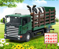 High Quality!! Sweden Scania Cows Animal Trailer Transportor Truck 18*8*6CM 1:43 Alloy Vehicles Toys Gifts Models Collection