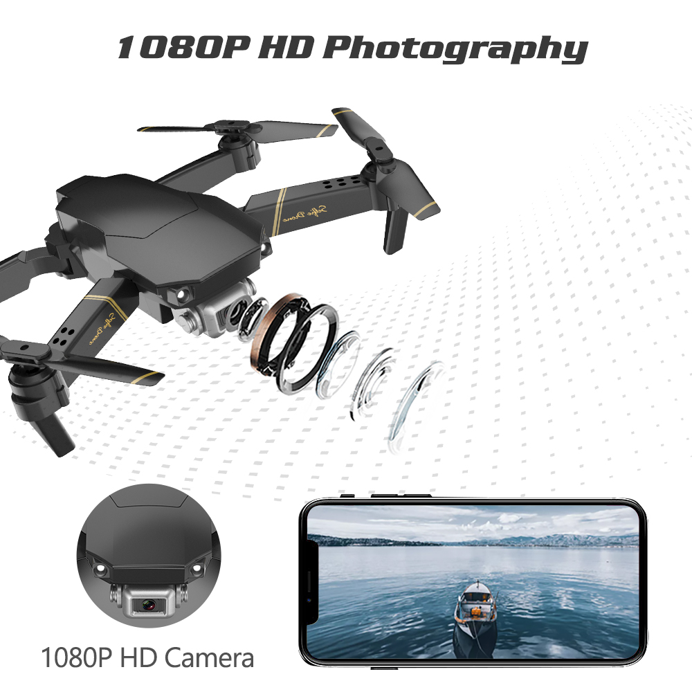 SHAREFUNBAY Drone 4k HD Wide Angle Camera WiFi Transmission FPV Drone Height Keep One Click Back Quadcopter Drone with Camera